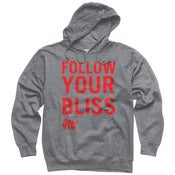 Image of Red Follow Your Bliss Pullover Hoodie