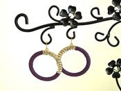 Image of Purple Summer Dazzle Earrings