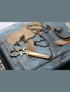 Image of Snip Snip Scissor Necklace