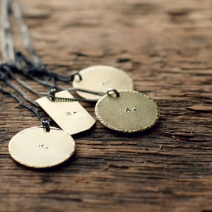 Image of Aubrey Personalized Medallion Necklace -