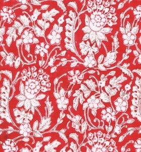 Image of Red Medium Floral Pillowcase