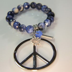 Image of Peace Flower - Blue Sodalite