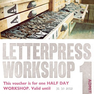 Image of Half Day Letterpress Workshop Voucher