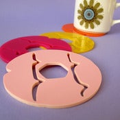 Image of Iced Ring Coasters - Set of Four