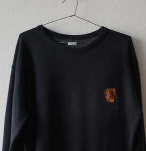 Image of SALCHICHA PATCH BLACK SWEATSHIRT