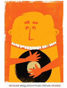 Image of Clap Your Hands Say Yeah Art Poster by Strawberryluna
