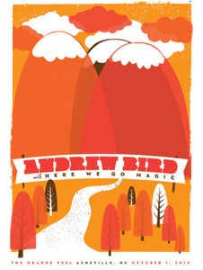 Image of Andrew Bird Asheville Show Art Poster by Strawberryluna