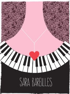 Image of  Sara Bareilles Tour Poster Limited Edition by Strawberryluna