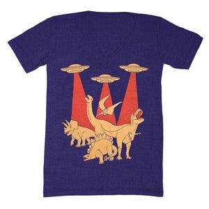 Image of Dinosaurs vs Aliens V-neck
