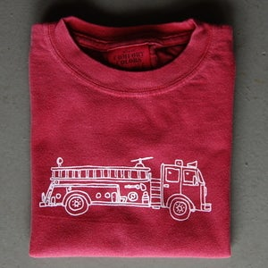 Image of Firetruck Long-Sleeved Children's Tee