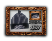 Image of *NEW* Headshot Season Winter Hat [Black, Grey & White Stripes]