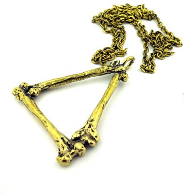 Image of MKTPRICE Triangle Bone Pendant