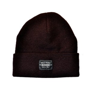 Image of NVMBR - Dark Brown Beanie