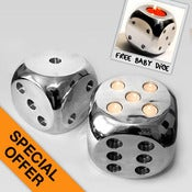 Image of Cool Fire Dice Tealight Holder (Each)