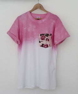 Image of Pink Rose Dip Dye Tee