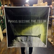 "Image of Pianos Become The Teeth - ""empty bed"" 46x46 inch flag"