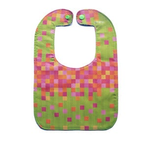 Image of Baby Bib - Colour Block in Lime