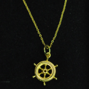 Image of 9ct Gold Ships Steering Wheel