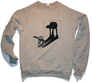 Image of AT-AT Shadow - unisex crew neck pullover HEATHER GRAY