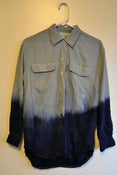 Image of MFD Deep Ocean Dip-Dye Silky Blouse