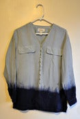 Image of MFD Squid Ink Dip-Dyed Silk Blouse