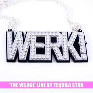 Image of Werk! Crystal Necklace