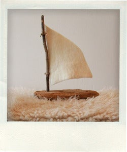 Image of Driftwood sailboat