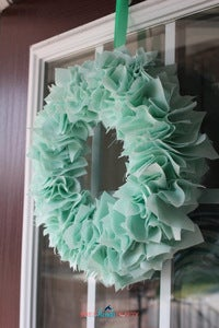 Image of MINT Luxe Fabric Wreath 12""