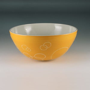Image of Large Circle Serving Bowl in Orange