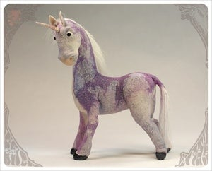 Image of SOLD! - Amethyst Purple Unicorn by the Filigree