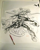 Image of DRIZZT DO'URDEN original inked drawing