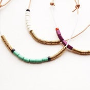 Image of Brass and Ceramic Bead Necklace