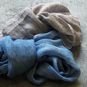 Image of heathered linen accent scarves
