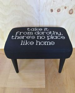 Image of COLLECTABLE > Take It From Dorothy Embroidered Footstool