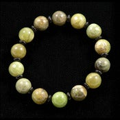 Image of Green Kyanite and Onyx Bracelet -- Reiki Charged