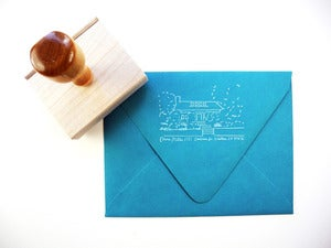 Image of Custom House Rubber Stamp