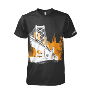 Image of Ben Franklin Bridge Tee (Black/Orange/White)