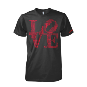 Image of Men's LOVE Tee (Black/Red)