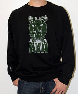 Image of Guys | Rhinoblasty 2.0 | Crewneck Sweatshirt | Black