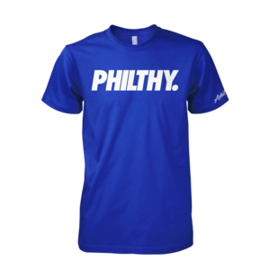 Image of PHILTHY. Tee (Royal/White)