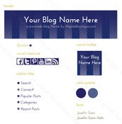 Image of blue blog graphic suite
