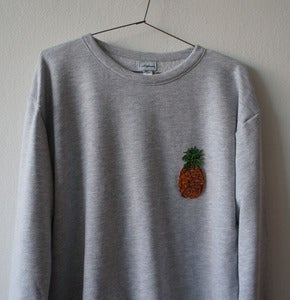 Image of TROPICAL WINTER GREY SWEATSHIRT