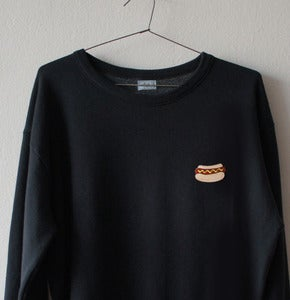 Image of HOT DOG PATCH BLACK SWEATSHIRT