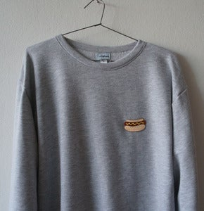 Image of HOT DOG PATCH GREY SWEATSHIRT