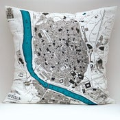 "Image of Vintage SEVILLE Map 15"" x15"" Pillow Cover"