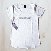 Women's tee - White / silver plasma