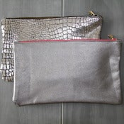 Image of Leather Clutch - Silvers
