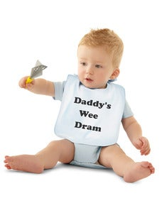 Image of Daddy's Wee Dram Bibs - Twin Pack