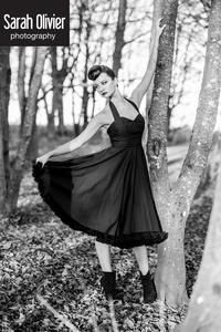 Image of Plain Black Halterneck Dress