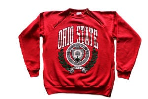 "Image of Men's D.Fame Custom ""Ohio Buckeyes"" Crewneck"